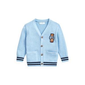 Bear-Patch Cotton Cardigan