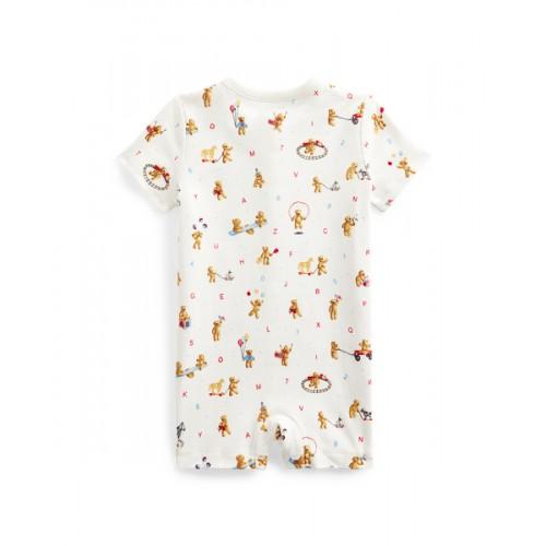 폴로 Bear-Print Cotton Shortall