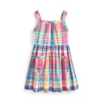 Madras Fit-and-Flare Dress