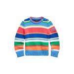 Striped Polo Cotton Sweater