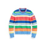 Striped Polo Cotton Sweater