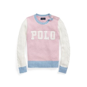 Color-Blocked Cotton Sweater