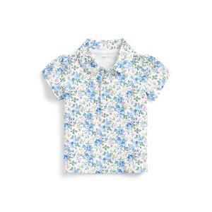 Floral Interlock Polo Shirt