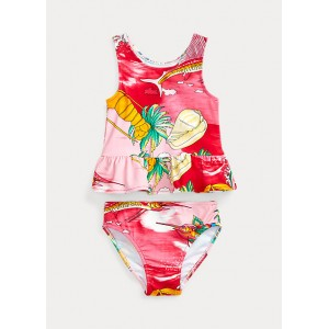 Tropical Two-Piece Swimsuit
