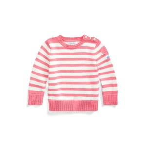 Heart-Patch Cotton Sweater