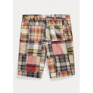 Slim Fit Cotton Madras Short