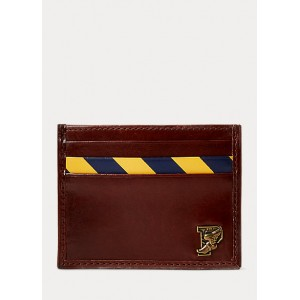 Repp-Stripe Leather Card Case