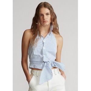 Striped Cotton Halter Top