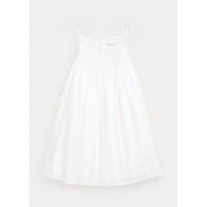 Smocked Cotton A-Line Dress