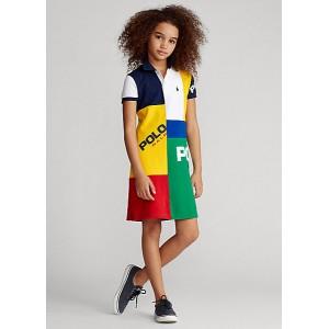 Patchwork Mesh Polo Dress