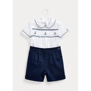 Smocked Shirt  Short Set