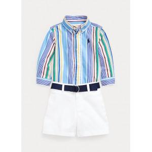 Shirt, Belt,  Chino Short Set