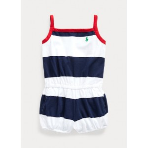 Rugby-Stripe Cotton Romper