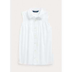 Smocked Cotton Shirt