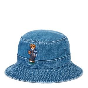Polo Bear Denim Bucket Hat
