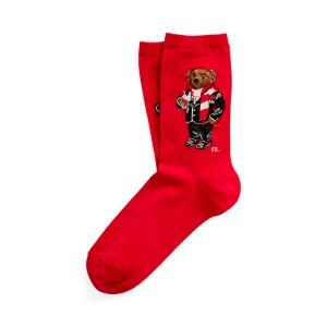 Hot Cocoa Bear Trouser Socks