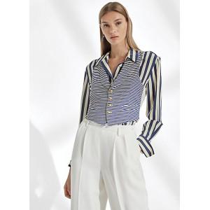 Libby Striped Satin Vest