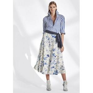 Trivelas Floral Leather Skirt