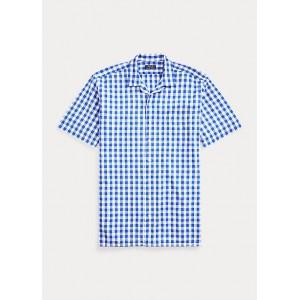 Gingham Poplin Camp Shirt