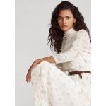 Floral Lace-Trim Cotton Dress