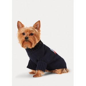 Flag Wool-Blend Dog Sweater