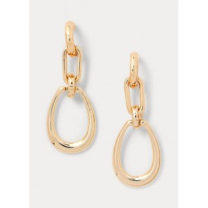 Gold-Finished Link Earrings
