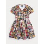 Patchwork Cotton Wrap Dress