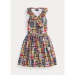 Cotton Madras Wrap Dress