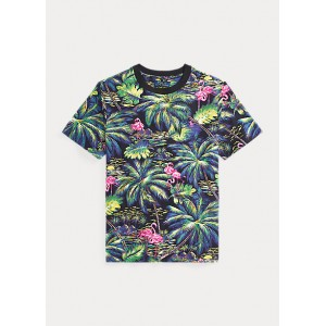 Tropical Cotton Jersey Tee