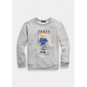 Paris Bear Fleece Sweatshirt