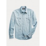 Slim Chambray Western Shirt