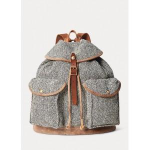 Suede-Trim Harris Tweed® Rucksack