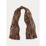 Leopard Cashmere-Silk Scarf