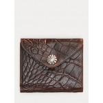 Crocodile-Embossed Leather Wallet