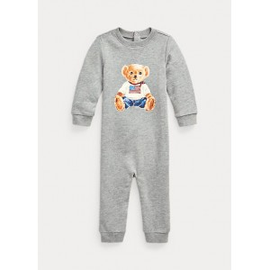 Flag Bear Terry Coverall