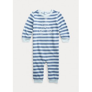 Bear Striped Terry Coverall