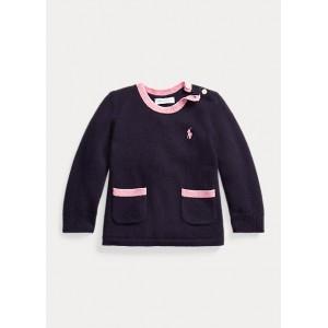 Back-Pleat Wool Sweater