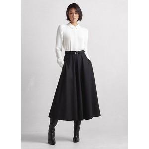 Erica Virgin Wool Flannel A-Line Skirt