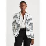 Striped Cotton-Blend Blazer