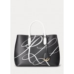 Leather Large Print Marcy Satchel