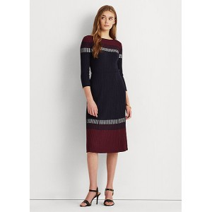 Three-Tone Ribbed Skirt