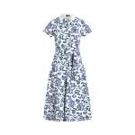 Floral Belted Cotton Dress