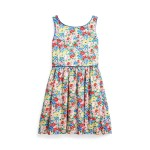 Floral Cotton Poplin Dress