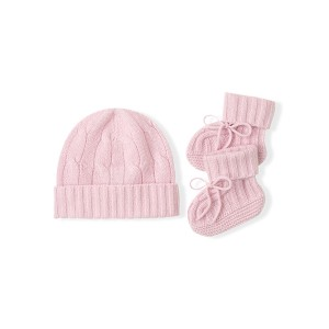 Cashmere Hat  Booties Set
