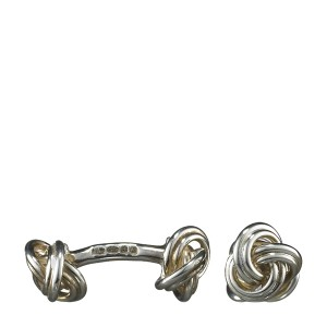 Knot-on-Bar Cuff Links