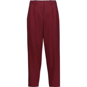 Claret Straconi cropped crepe straight-leg pants