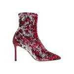 Crimson Ricky 85 metallic leather-trimmed sequined stretch-knit sock boots