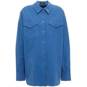 Blue Cotton-blend twill shirt