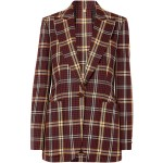 Burgundy Checked wool blazer