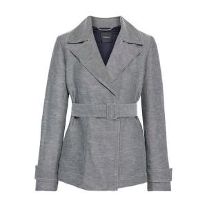 Black Belted linen-blend twill blazer